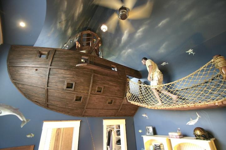 Steve Kuhl Pirate Ship Bedroom Interior Design Fantasy Room