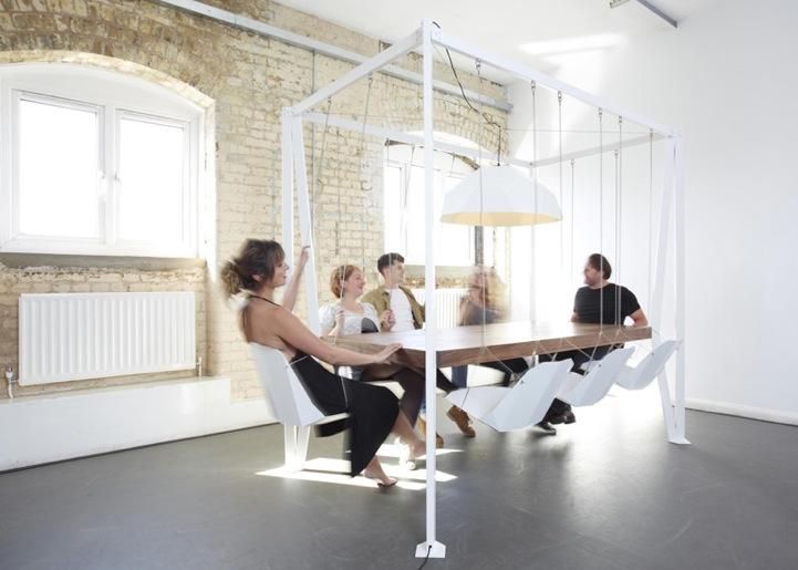 Playful Swing Table Makes Meetings More Interesting