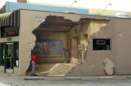 Huge 3D Wall Murals are Off the Wall John Pugh 12 pics