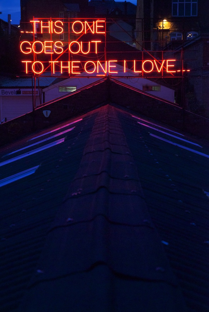 Neon Signs Featuring Lyrics from Classic Love Songs