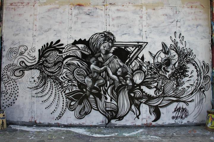 Intricate street art murals for Art mural nivelles