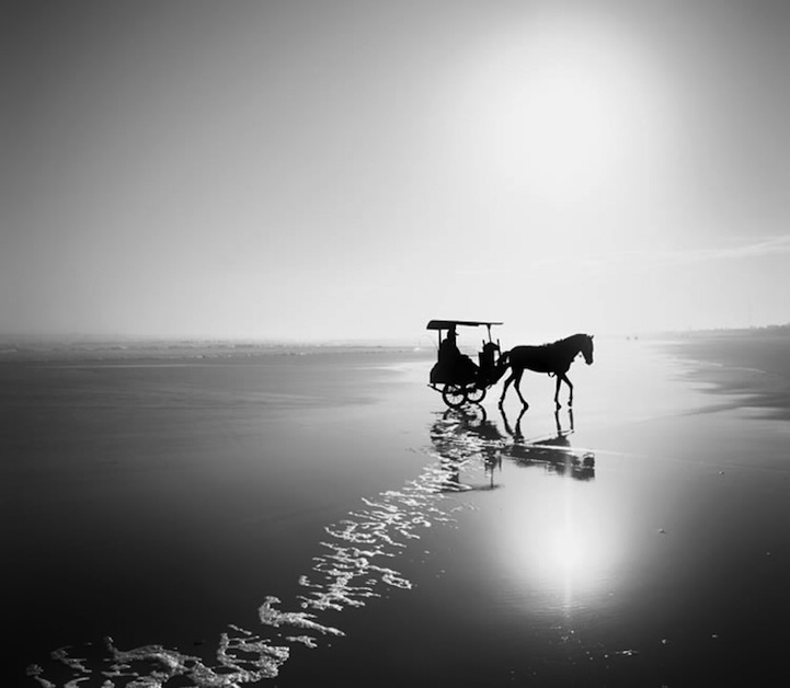 Tranquil black and white landscapes