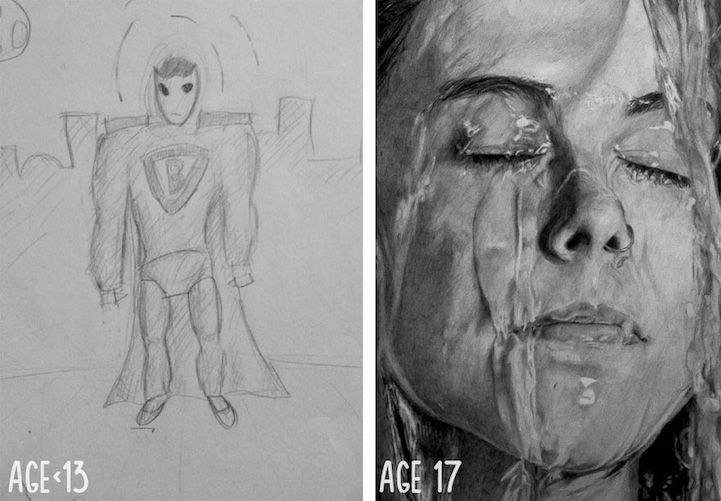 Artists Share Before And After Evolution Of Their Drawing Skills