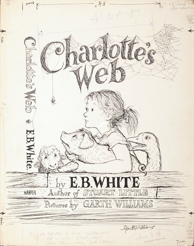 Book Cover Illustrations For Sale : Unlocking original illustrations from charlotte s web