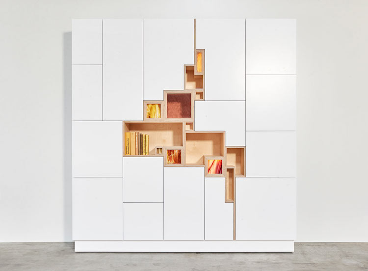 Etonnant Modern Storage Unit Features Stylized Shelving Mimicking A Crack In The  Earthu0027s Surface
