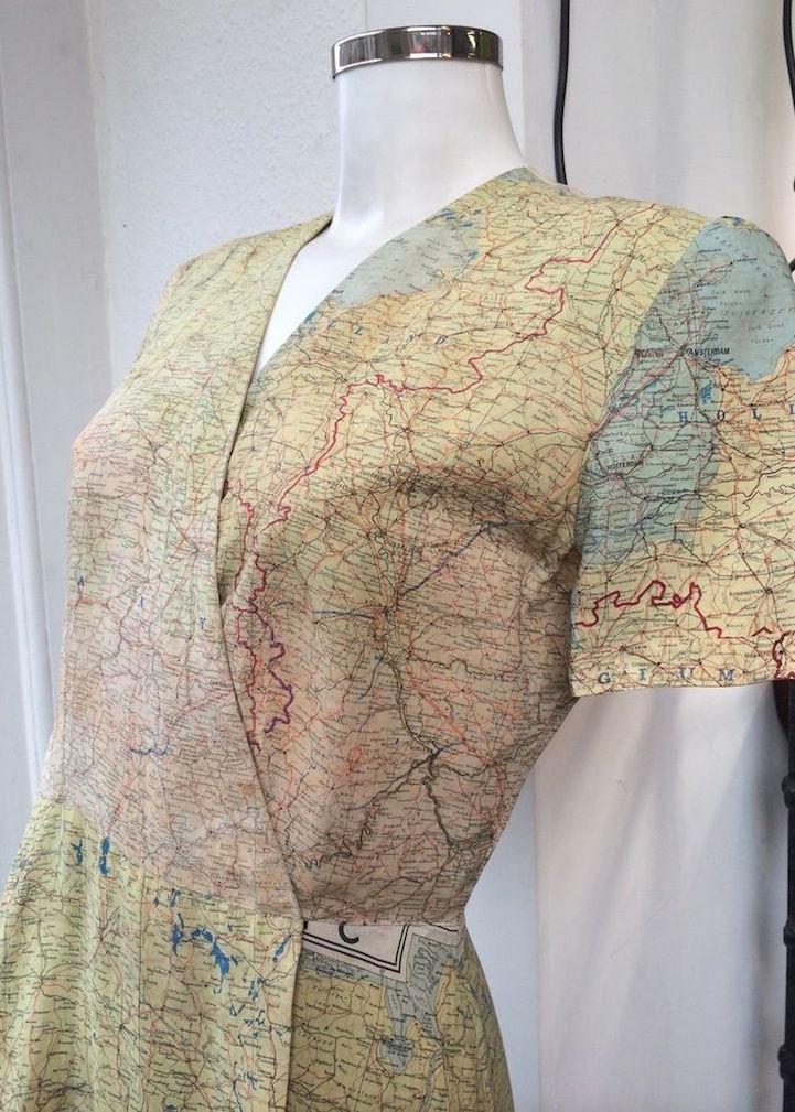 Escape Travel Trailer >> Wedding Dress Made From World War II Escape Map Has a New ...
