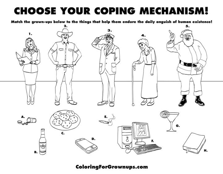 Realities Of Adulthood Hilariously Translated Into Coloring For Grown Ups Activity Book