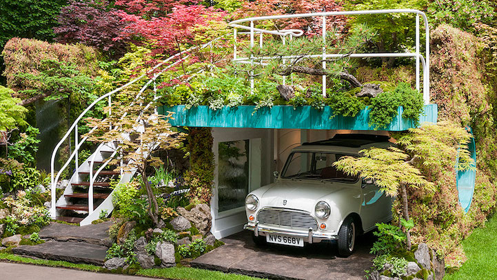 Lush Garage Garden Takes Gold Medal At Chelsea Flower Show My