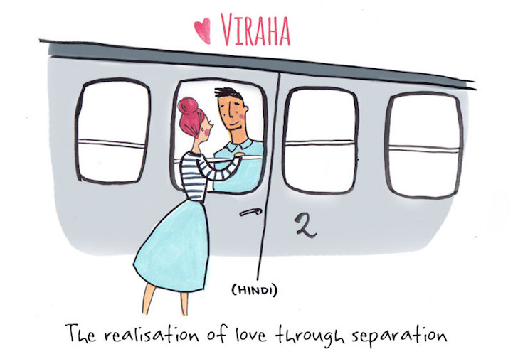 Artist Illustrates Untranslatable Love Words from Around the