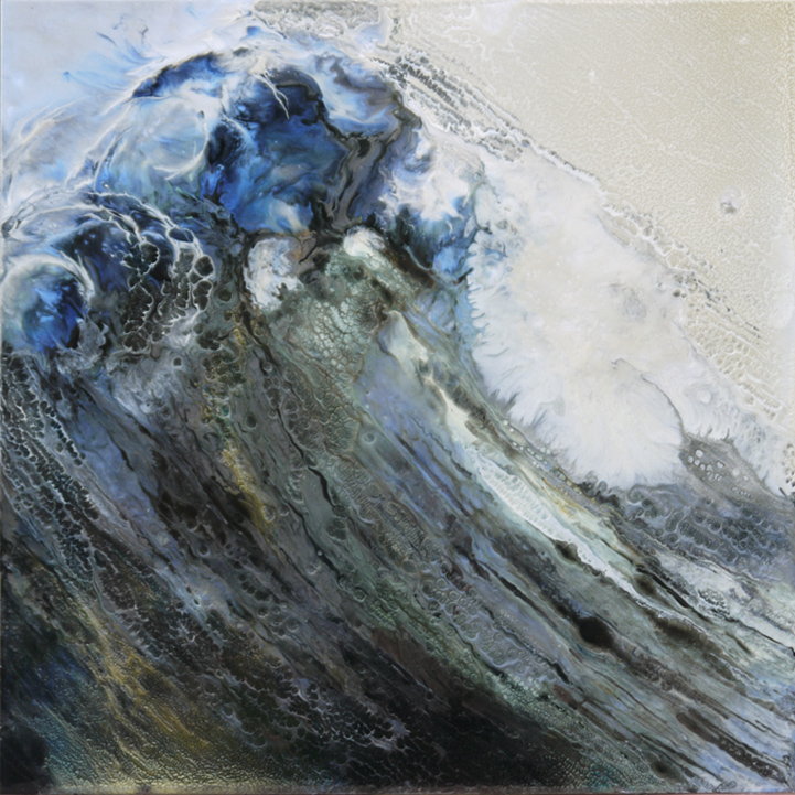 Translucent Paint Layers Capture The Energy Of Ocean Waves