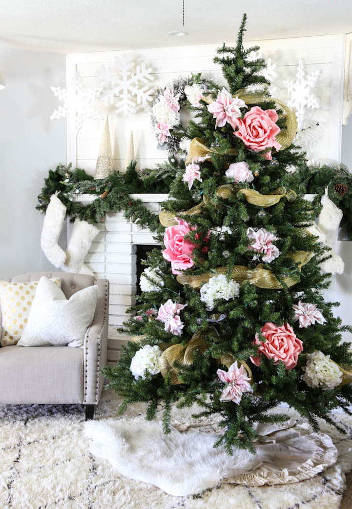 People Decorating For Christmas pink christmas tree decorations - creditrestore