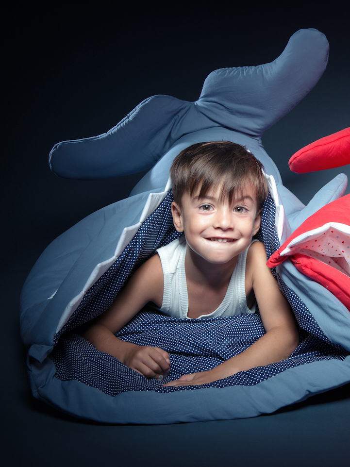 Colorful Fish Shaped Sleeping Bags Playfully Swallow
