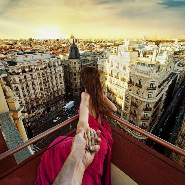Photographers Girlfriend Continues To Lead Him Around The World - Guy photographs his girlfriend as they travel the world