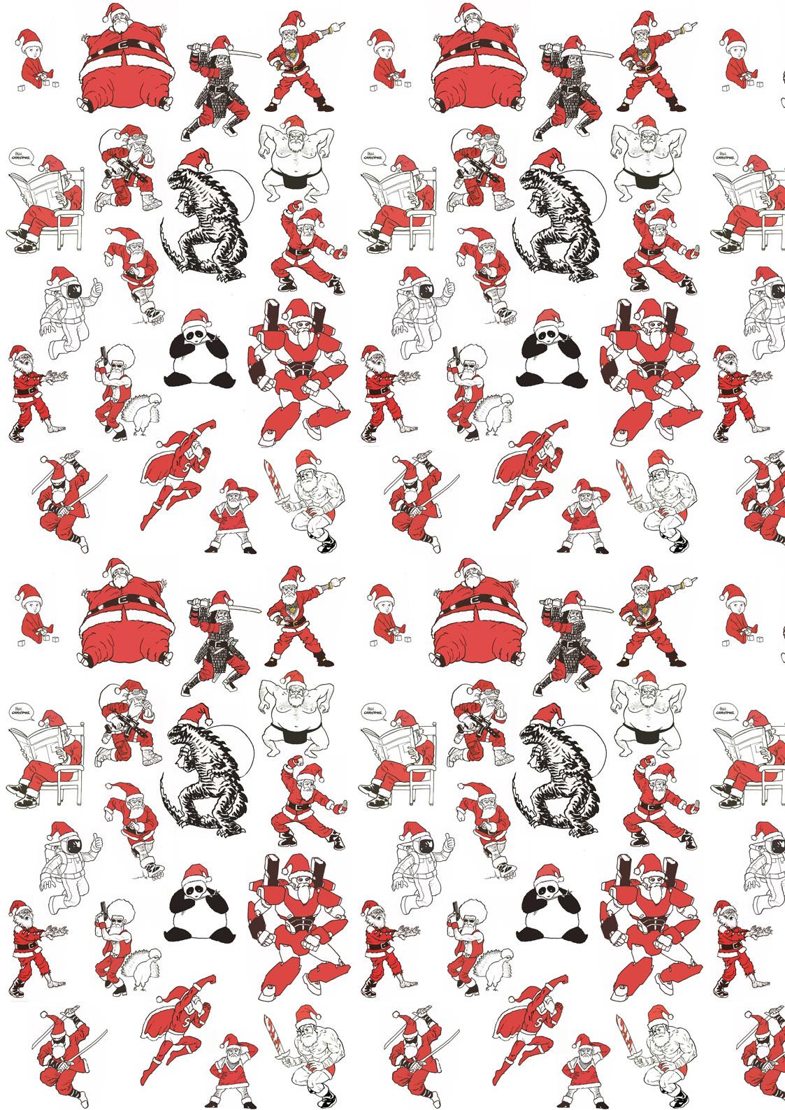 15 hilarious santa claus mashups neil cameron - Funny Christmas Wrapping Paper