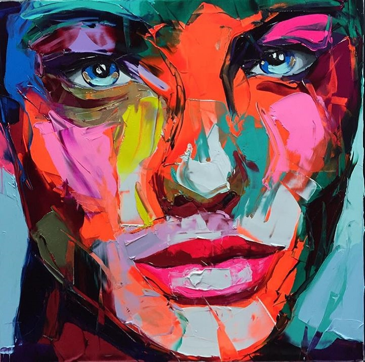 Colorful Abstract Face Art Creative Art