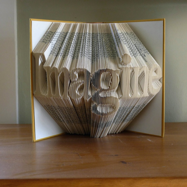 folded book art luciana frigerio - Book Pages Art