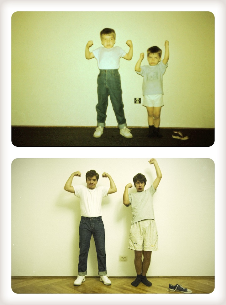 Two Sons Recreate 20 Year Old Pictures For Their Mom