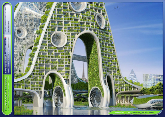 architect designs paris of 2050 as eco friendly smart city. Black Bedroom Furniture Sets. Home Design Ideas