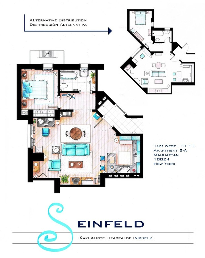 Detailed Floor Plan Drawings of Popular TV and Film Homes – Floor Plans Of Tv Homes