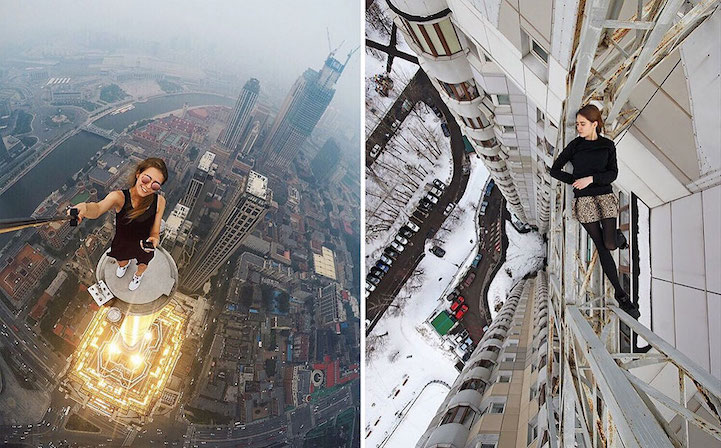 Daredevil Photographer Takes World's Riskiest Instagram Photos