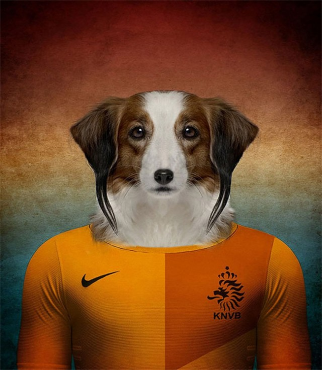 2116ff893b7 Native Dogs Represented as World Cup Soccer Players