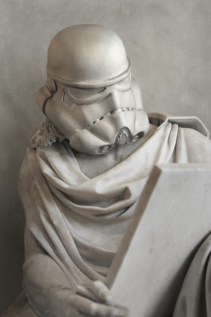 Star Wars Characters Reimagined as Ancient Greek Statues by Travis Durden
