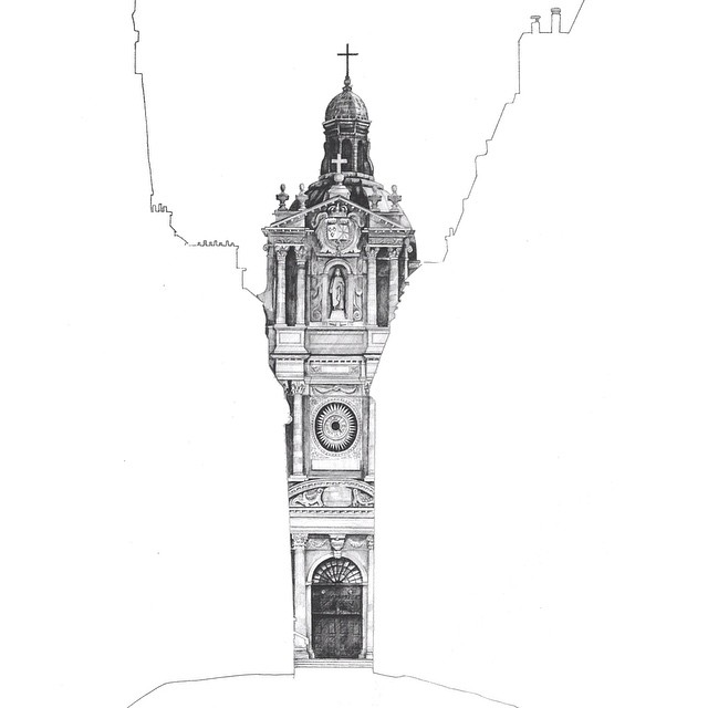 Gorgeous Architectural Drawings Hidden Behind Empty Silhouettes Of