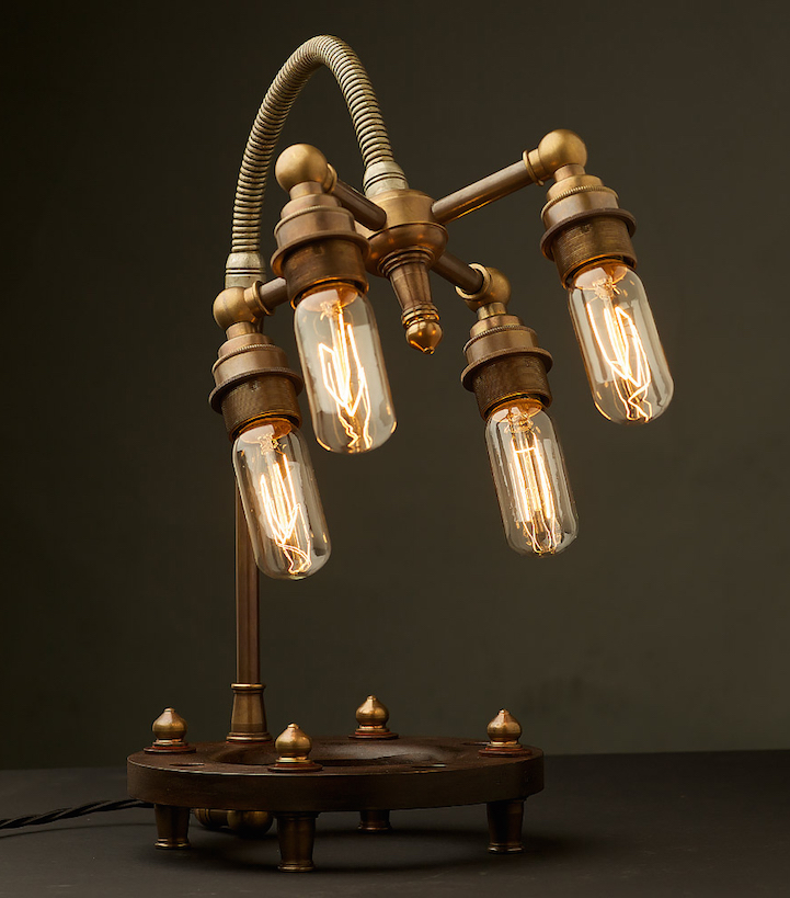 Steampunk Inspired Lighting Uses Energy Efficient Led