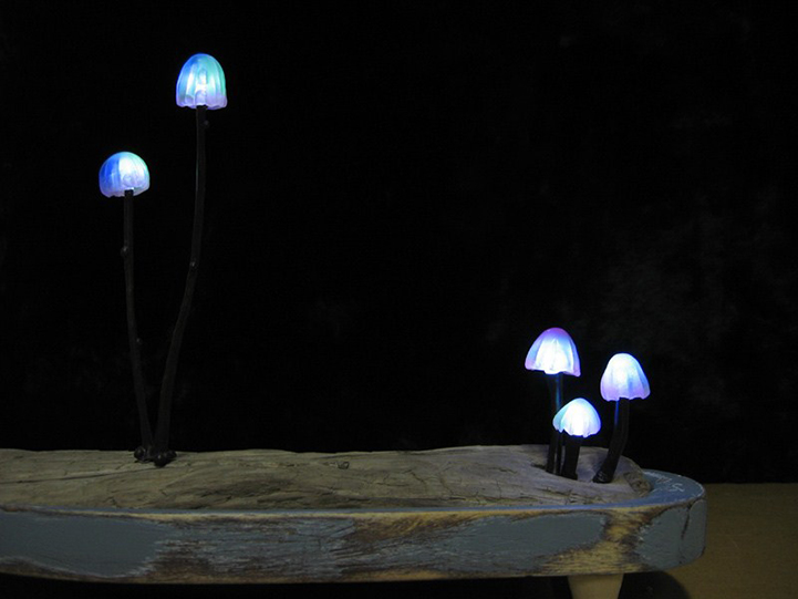 Creative Led Lights Mimicking Mushrooms Turn Any Room Into