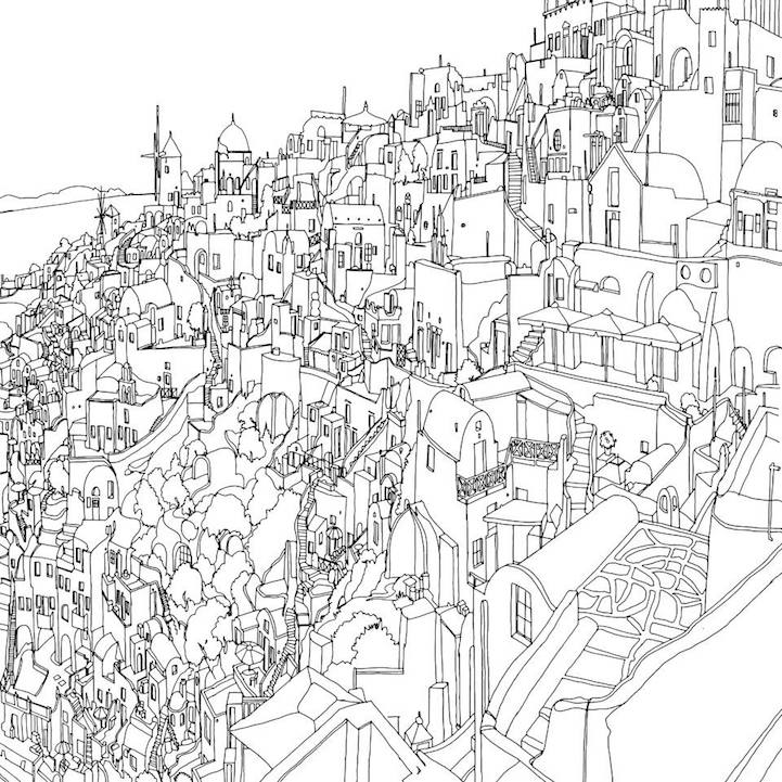 Fantastic Cities An Exquisite Architectural Coloring Book