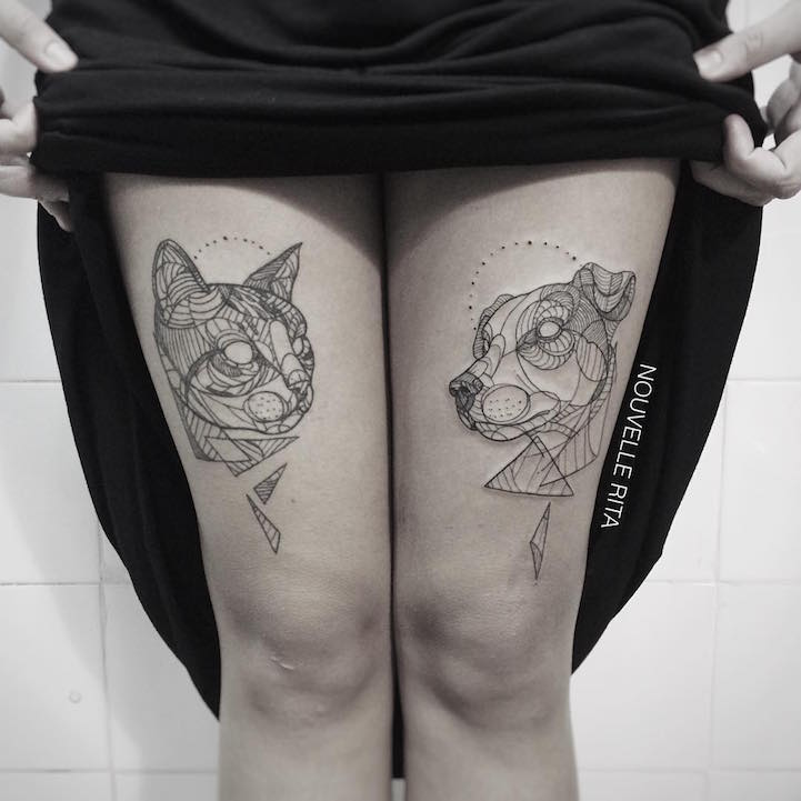 Artistic animal tattoos made with exquisitely bold contour lines gumiabroncs Choice Image