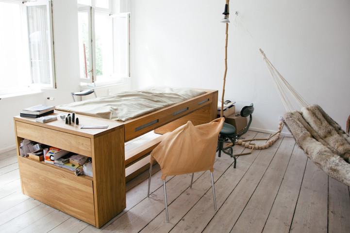 Multi-Functional Design Transforms Desk Into Bed