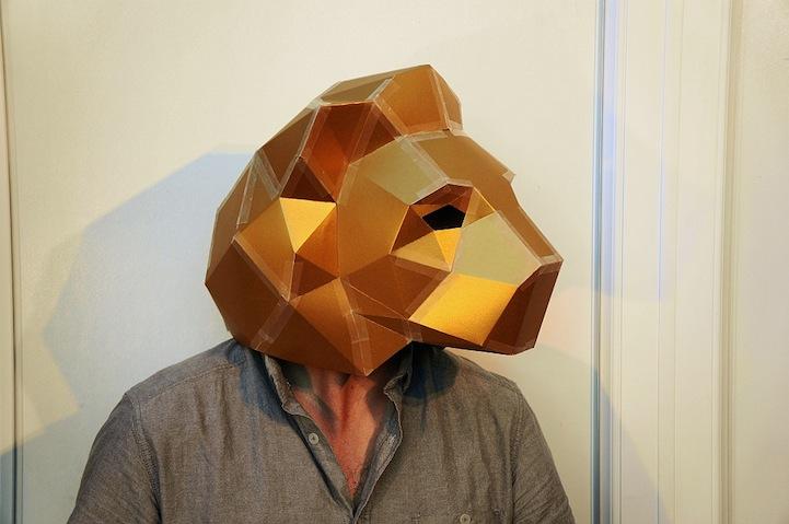 Playful DIY Paper Masks Minimize Environmental Impact