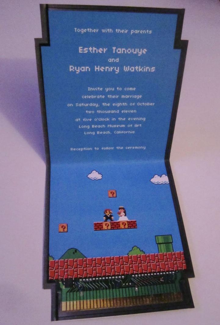 Super Mario Bros Wedding Invitation