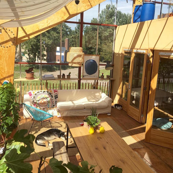 Eco Friendly Family Is Living Inside A Giant Greenhouse