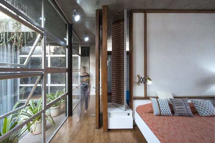 Architects Recycle Found Doors And Windows To Form Faade