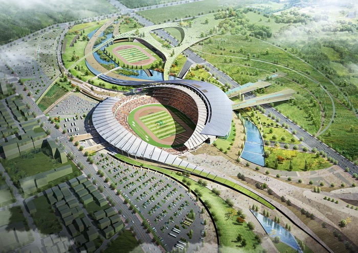 Are Represented Inside The Form Of Master Plan Stadium And Left Over Space Around That Becomes Main Access To Building