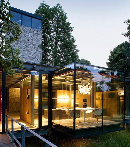 The Floating Glass House Near Krakow Poland 7 pics