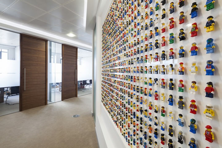Playful Office Wall Filled With 1,200 LEGO People