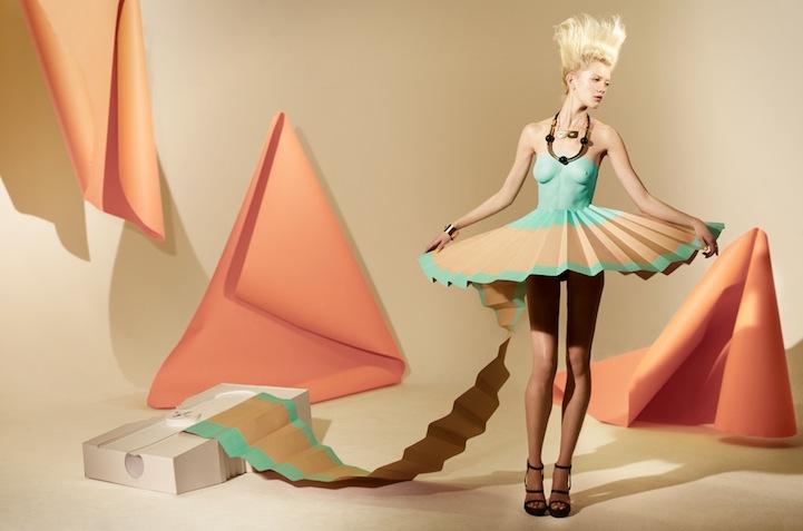 Платье с бумаги