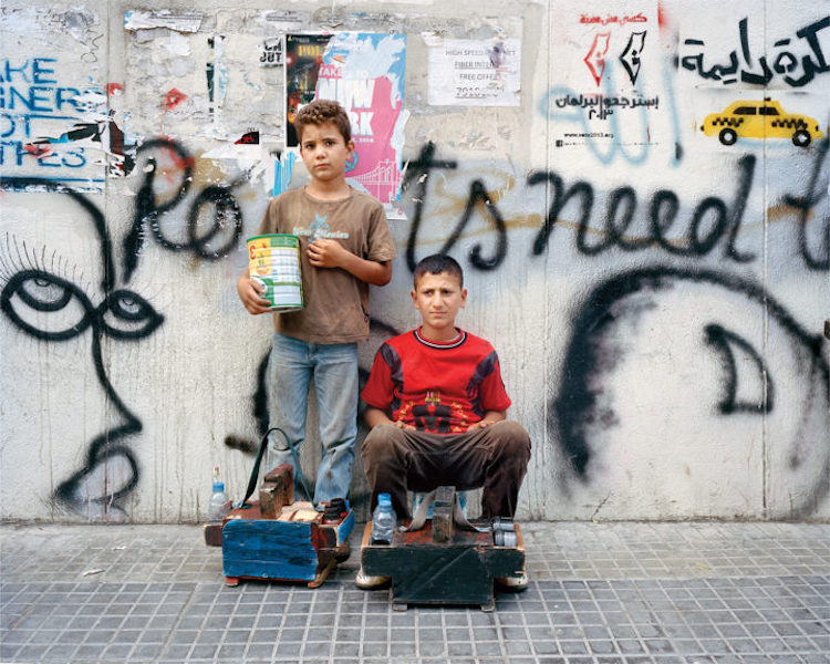 Refugee Boys Working In The Streets Of Lebanon