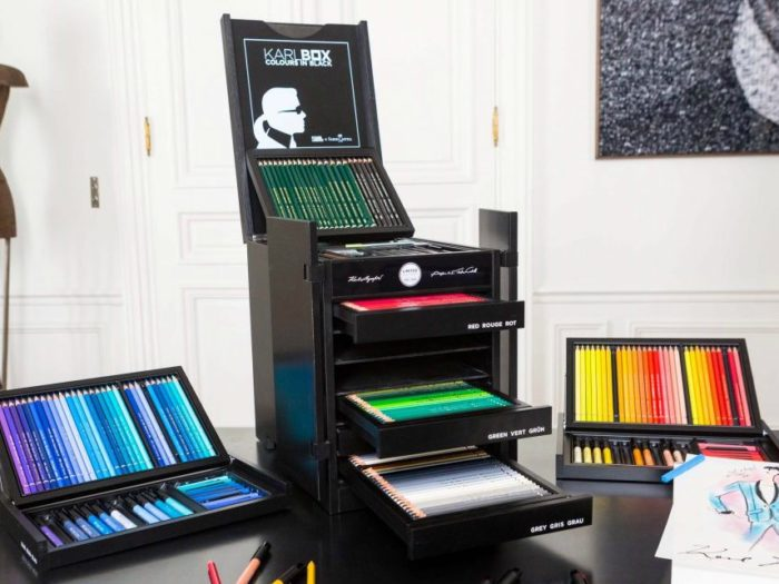 Karl Lagerfeld Designed an Elegant Chest of Art Supplies to