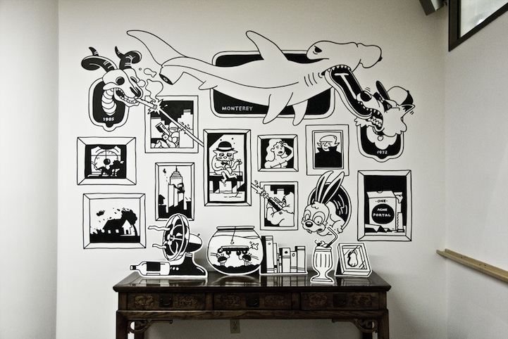 Fun interactive murals that play off one another for Creative mural art
