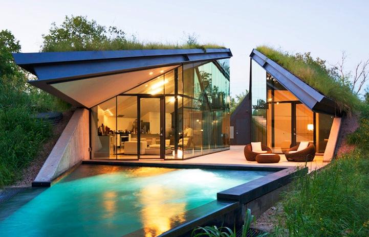 Modern Home Modeled After Native American Pit Hut