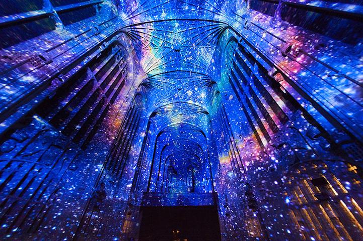 Artist Miguel Chevalier Recently Created A Series Of Immersive Projections That Added Mesmerizing Flair To University Cambridge Charity Event