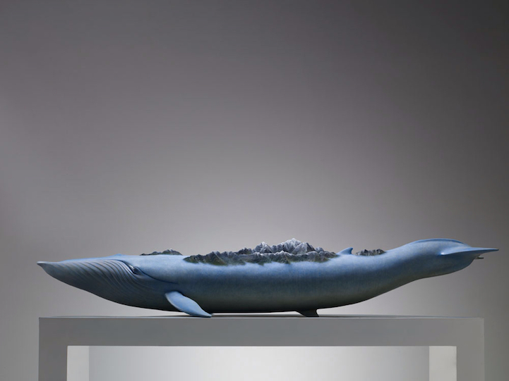 whales sculptures by ruilin wang