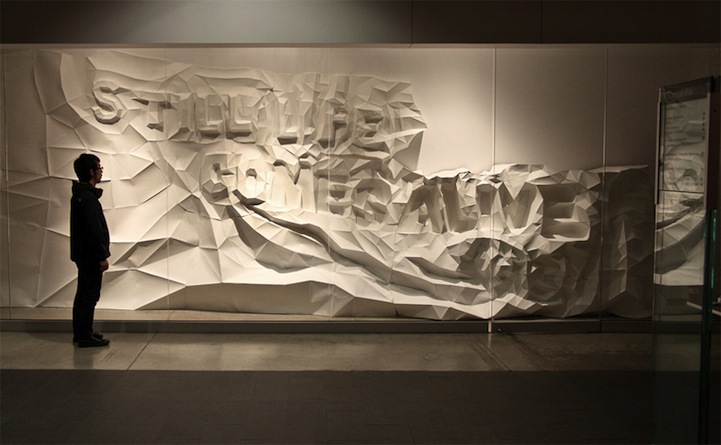 3D Typographic Wall Art