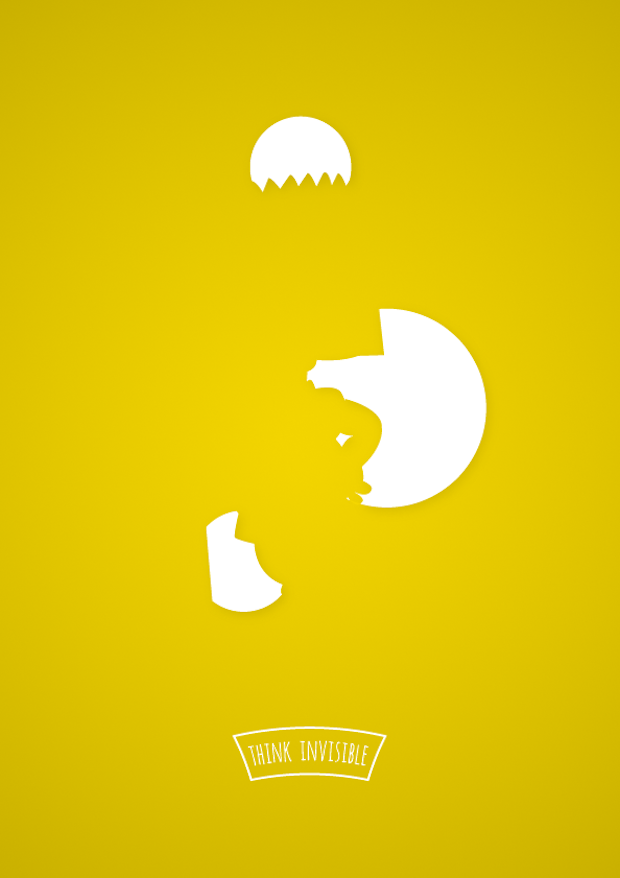 pop culture posters using negative space