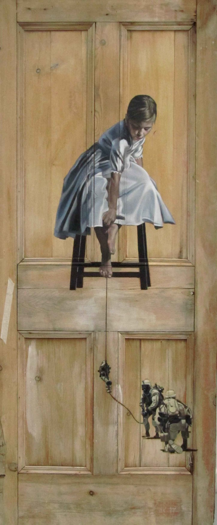 & Intriguing Old Paintings on Worn Doors pezcame.com