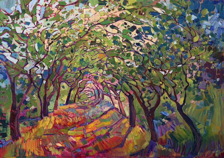vineyard painting  Loralee Chapleau Fine Art